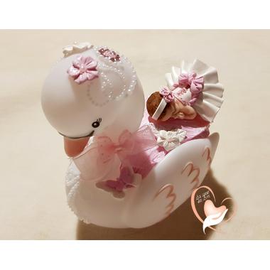 1CV-au coeur des arts-Veilleuse cygne bebe fille
