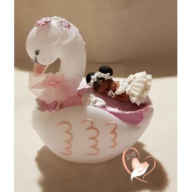 2CV-au coeur des arts-Veilleuse cygne bebe fille