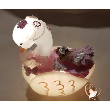 3CVC-au coeur des arts-Veilleuse cygne bebe fille