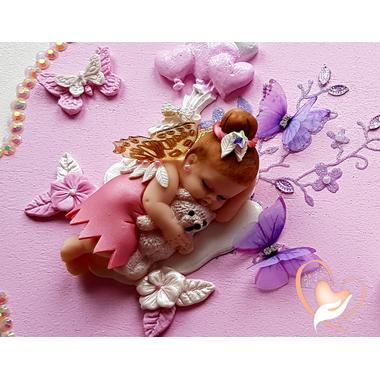 PP30B-Plaque de porte nuage bebe fille fee clochette - au cœur des arts