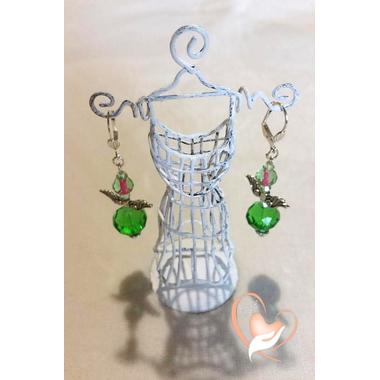 13-dormeuse perles de cristal forme petit ange poids 12 g L 6 cm N°4