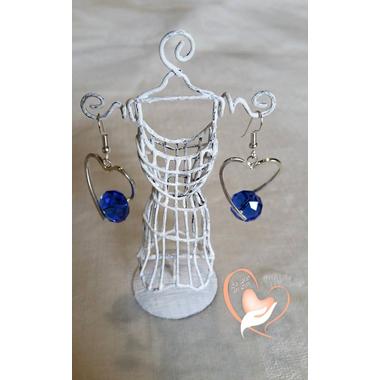 7-boucle perle de cristal monture argent forme coeur 8 g L 4 cm  N° 2 10 € logo