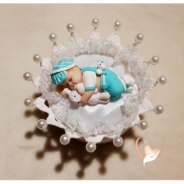 CD16-au-coeur-des-arts-couronne boîte à dragées bebe garçon fimo