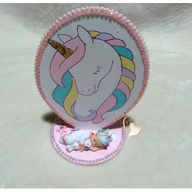 PN1B-Plaque de naissance licorne - au cœur des arts