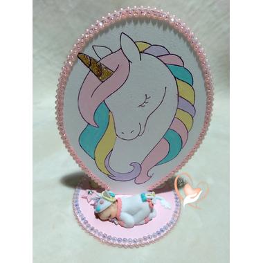 PN1-Plaque de naissance licorne - au cœur des arts