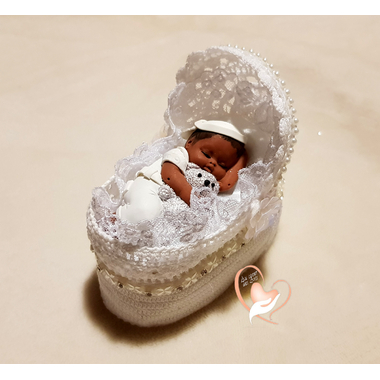 CD29-au-coeur-des-arts-couffin boîte à dragées bebe garçon et son ours fimo