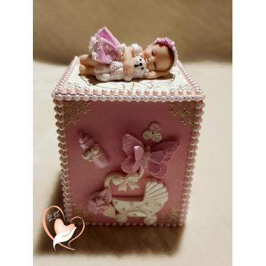 T78B-au coeur des arts-tirelire bebe fille
