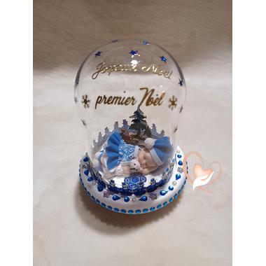 CL2- au coeur des arts- Cloche lumineuse de  Noël  sur socle à Led
