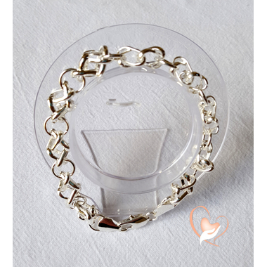 24-Bracelet argent chaine- au coeur des arts