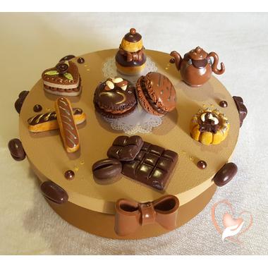 27-Boîte à gâteaux ou dosettes chocolat café- au coeur des arts