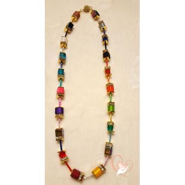 29-Collier perles polaris chaine palqué or - au coeur des arts