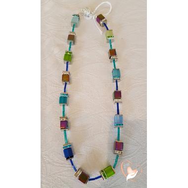 25-Collier perles polaris et argent- au coeur des arts