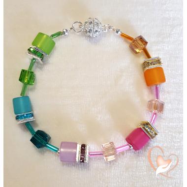 37-Bracelet perles polaris argent - au coeur des arts