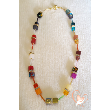 32-Collier perle polaris multicolore- au coeur des arts