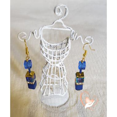 34-Boucles d'oreilles perles polaris plaqué or- au coeur des arts