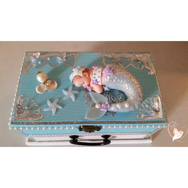 6-Boîte à musique bébé sirène bleue- au coeur des arts