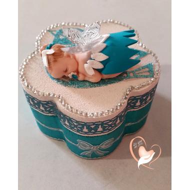 13-Boîte à dent de lait bébé fille - fée clochette bleue- au coeur des arts