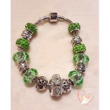 72-Bracelet jade style pandora- au coeur des arts