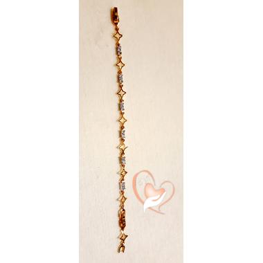 76-Bracelet plaqué or étoiles- au coeur des arts
