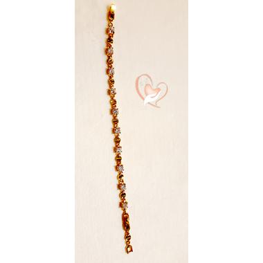 77-Bracelet plaqué or pierres cristal carrées- au coeur des arts