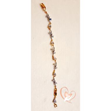 78-Bracelet plaqué or pierres cristal gouttes- au coeur des arts