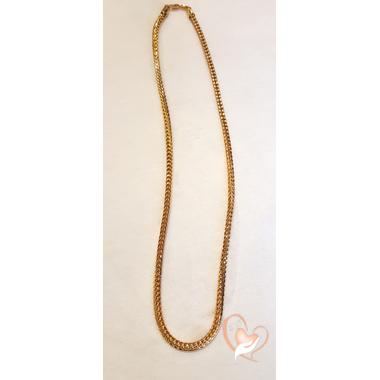 57-Collier chaine plaqué or - au coeur des arts