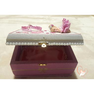 2B-Boîte à trésors rose et blanche- au coeur des arts
