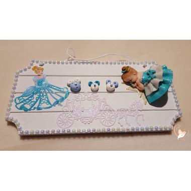 4-Plaque de porte bébé cendrillon- au coeur des arts