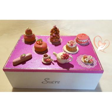 4-Boîte à sucre rose et blanche - au coeur des arts