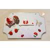 Plaque de porte bébé fille rouge et blanc - au coeur des arts