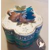 Boîte à dents de lait ou  dragées en forme de fleur bébé fille - fée clochette bleue- au coeur des arts