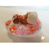 Veilleuse galet lumineux bébé fille tahitienne - au coeur des arts
