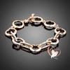 Bracelet anneaux cristal Swarovski plaqué or rose - au coeur des arts