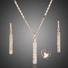 Parure plaqué or tube cristal Swarovski - au coeur des arts