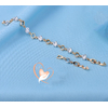 Bracelet plaqué argent zircon et anneaux ovales creux - au coeur des arts