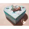 Boîte de naissance bébé cristal fille bleue et blanche - au coeur de arts