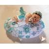 Veilleuse galet lumineux bébé fille avec son ours - au cœur des arts