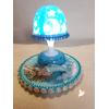 Veilleuse lampe lumineuse sur socle en bois bébé fille - au cœur des arts
