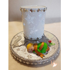 Lampe de chevet Veilleuse lumineuse sur socle en bois bébé garçon - au coeur des arts