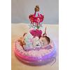 Porte bougie anniversaire bébé fille Lumineux - au coeur des arts
