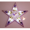Étoile lumineuse plaque de porte bébé fille - au cœur des arts