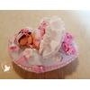Veilleuse galet lumineux bébé fille  - au coeur des arts