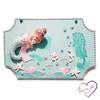 Plaque de porte bébé fille sirène - au coeur des arts