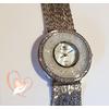 Montre plaqué argent  bracelet multi rangs - au cœur des arts