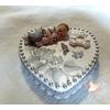Boîte à dents de lait cœur bébé garçon - au cœur des arts