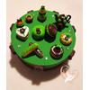 Boîte à gâteaux verte et choco
