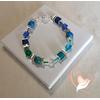 Bracelet Emeraude bleu vert- au coeur des arts