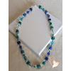Collier Émeraude bleu vert- au cœur des arts