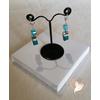 Boucles d'oreille perles polaris bleues argent - au coeur des arts