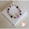 Bracelet couleur Amethyste- au coeur des arts